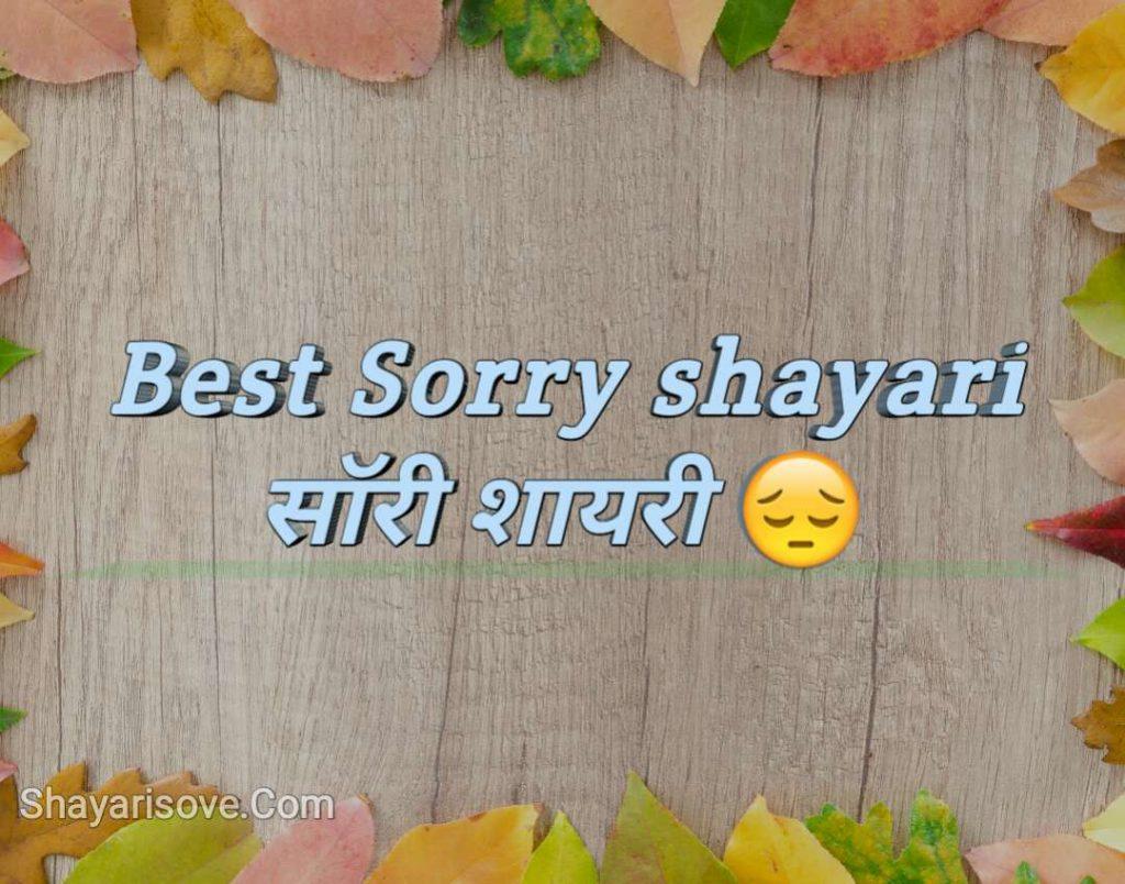 Best Sorry shayari | सॉरी शायरी