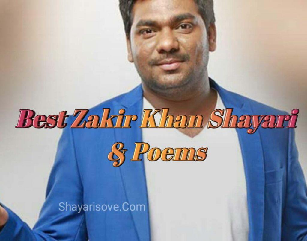 Best Zakir Khan Shayari & Poems