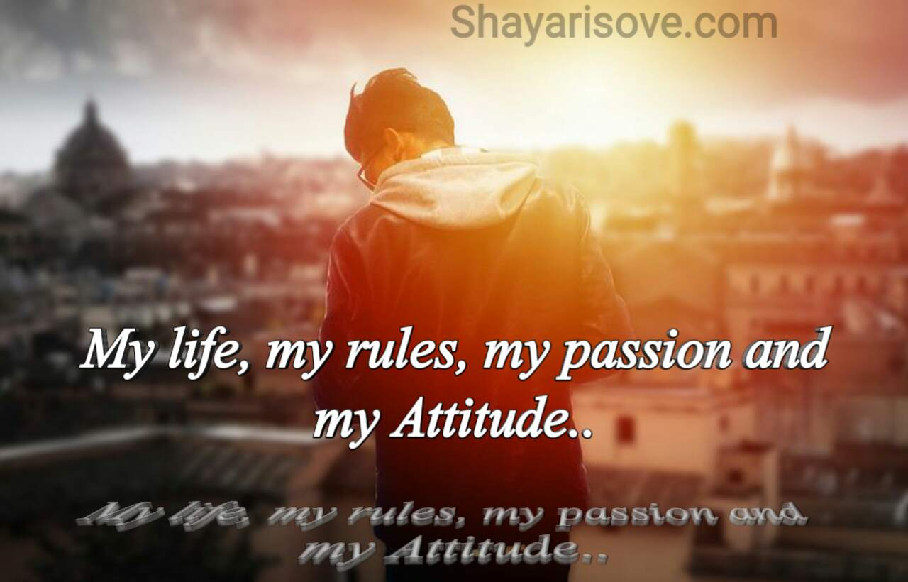 My life my rules, attitude status in English