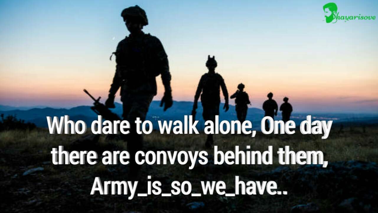 Who dare to walk alone