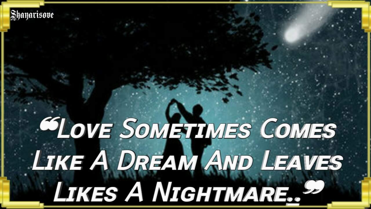 Love sometimes comes