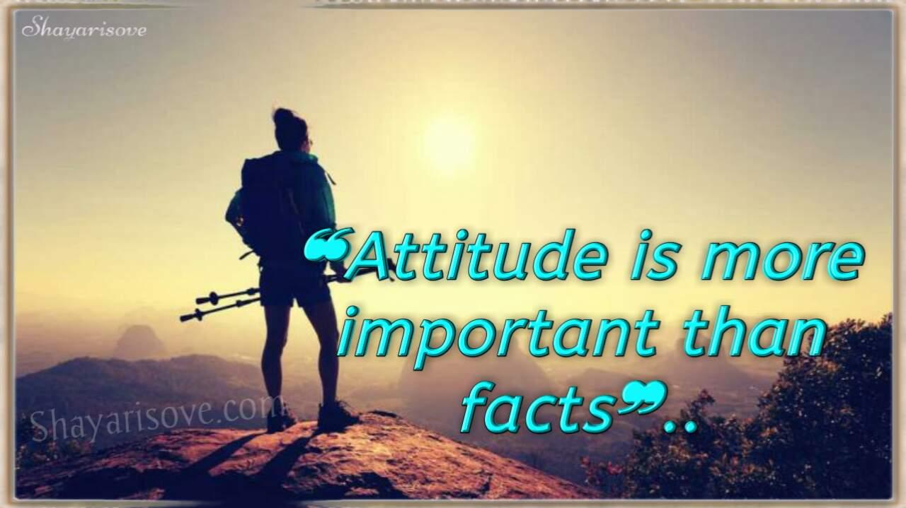 Attitude is more important