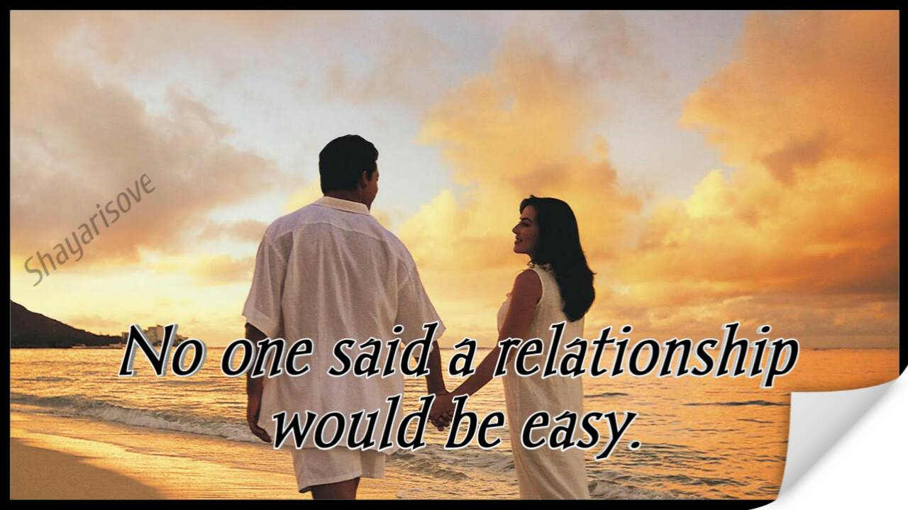 Relationship be easy
